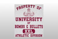Univeristy of Bombs & Bullets Athletic Tee