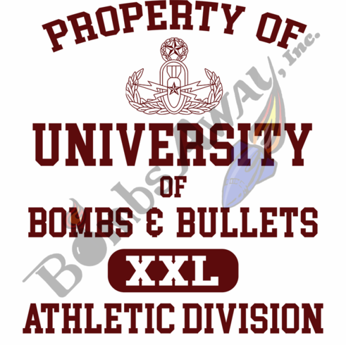 University of Bombs & Bullets Athletic T-Shirt