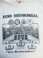 """We Remember"" EOD Memorial T-shirt - Front Print"