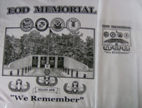 """We Remember"" T-shirt - Front & Back Print"