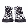 AKID Atticus Black White Checkered Boots