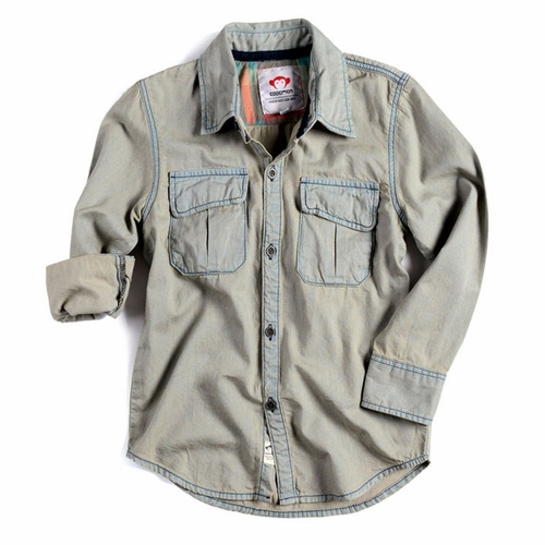 Appaman Bleached Chambray Warren Shirt
