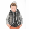 Appaman Uptown Denim Vest Sweatshirt Jacket