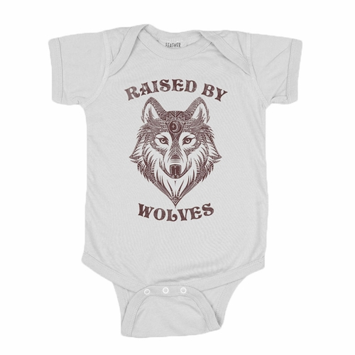 Feather 4 Arrow Raised By Wolves Onesie