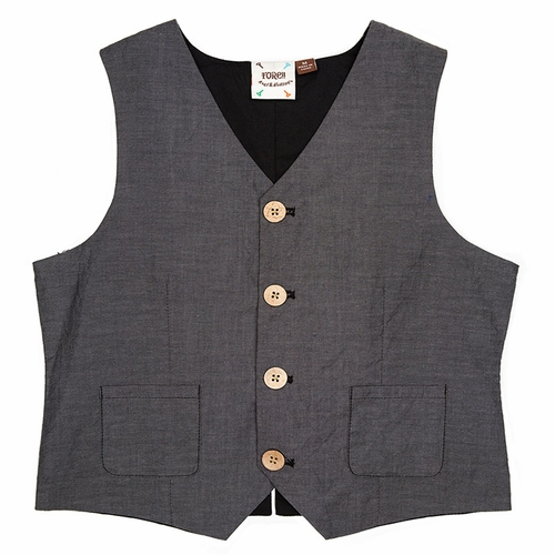 Fore!! by Axel & Hudson Linen Pinstripe Vest