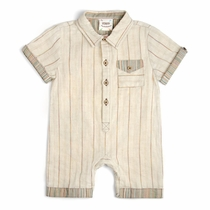 Fore!! by Axel & Hudson Linen Vintage Stripe Romper