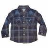 Hudson Denim and Plaid Pearl Snap Shirt