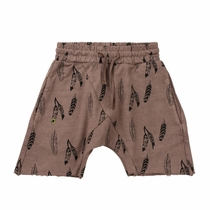 Ice Cream Castles Feather Print Harem Shorts