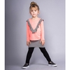Joah Love Girls Louisa Striped Ruffle Long Sleeve Tee