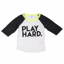 Joah Love Play Hard Kingston Raglan Tee