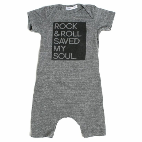 Joah Love Rock & Roll Saved My Soul Romper