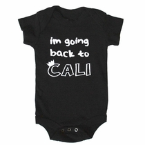Kira Kids I'm Going Back to Cali Onesie