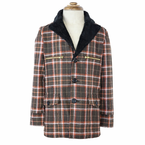 La Miniatura Vintage Plaid Jacket