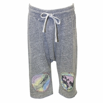 Lauren Moshi Pink Floyd Drop Crotch Yogi Shorts