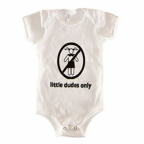 Little Dudes Only Logo Onesie