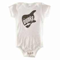 Little Dudes Only Metallic Guitar Onesie