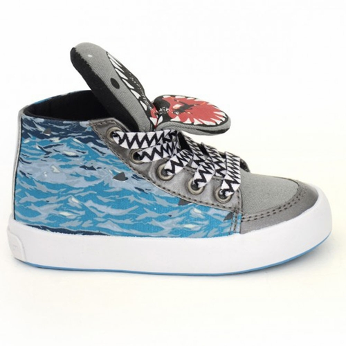 Milk On The Rocks Shark Hi-Top Sneakers