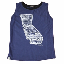 Mini & Maximus California Surf Map Muscle Tank