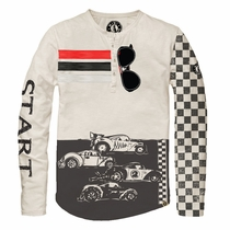 Mini Shatsu Racers Long Sleeve Henley