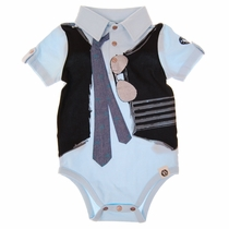Mini Shatsu Real Tie Polo Onesie