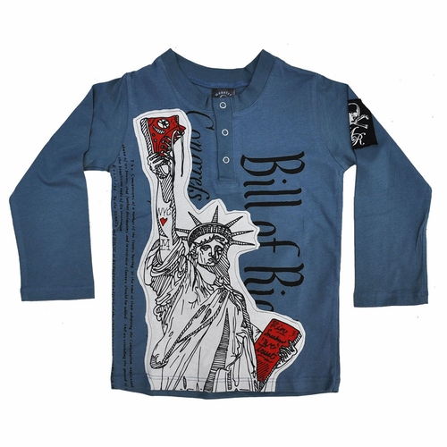 Monster Republic Bill Of Rights Henley Tee