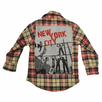 Monster Republic New York City Pearl Snap Flannel Shirt