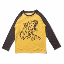 Munster Kids Fang Palm Long Sleeve Raglan