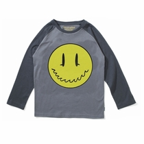 Munster Kids Smiley Surf Face Long Sleeve Raglan