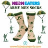 Neon Eater Army Men Socks
