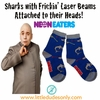 Neon Eaters Fricken Laser Beams Socks