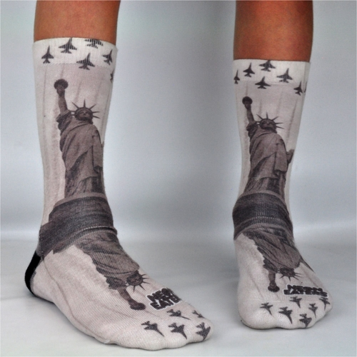Neon Eaters Statue of Liberty Socks