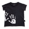nununu Black Raw Edge Handprint Tee