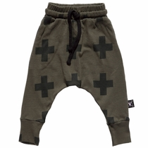 nununu Olive Plus Sign Baggy Pants