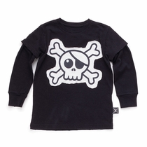 nununu Skull Patch Long Sleeve Twofer Tee