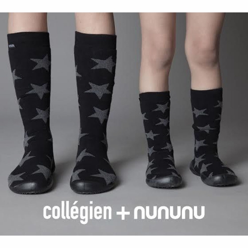 nununu + Collegien Knee High Star Slipper Socks