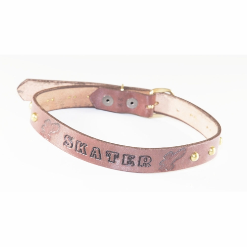 Ollie Baby Skater Embossed Leather Belt