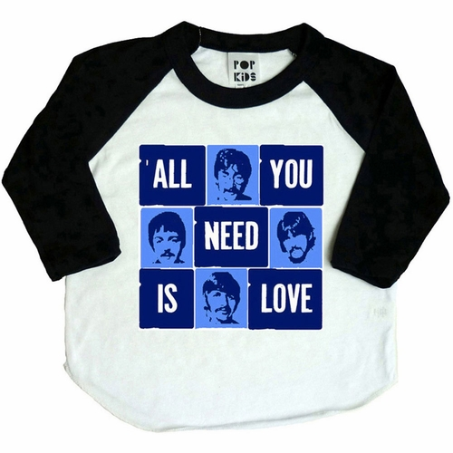 Pop Kids The Beatles Love Raglan