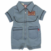 Rock Your Baby Denim Greaser Romper