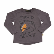 Rock Your Kid David Meowie Long Sleeve Tee