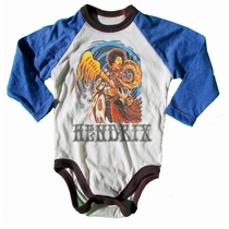 Rowdy Sprout Jimi Hendrix Long Sleeve Onesie