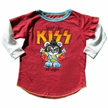 Rowdy Sprout Rock and Roll All Night Kiss Long Sleeve Tee