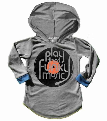 Rowdy Sprout Play The Funky Music Hooded Tee