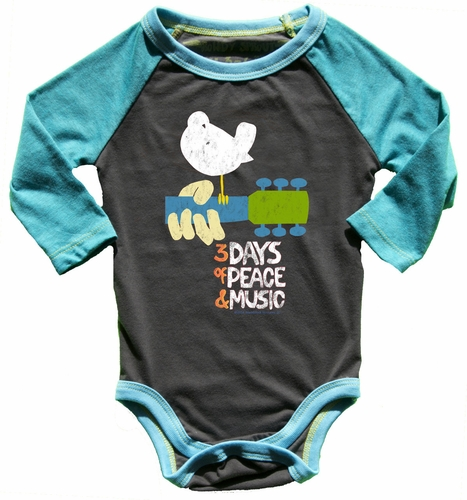 Rowdy Sprout Woodstock Long Sleeve Onesie