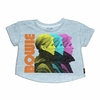 Trunk Girls David Bowie Short Sleeve Cropped Sweatshirt