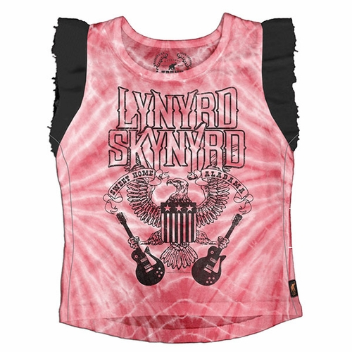 Trunk Girls Lynyrd Skynyrd Ruffle Sleeve Tank