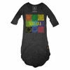 Trunk Girls Nirvana Pop Art Hi Low Burnout Dress