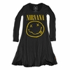 Trunk Girls Nirvana Smiley Face Long Sleeve Dress