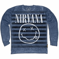 Trunk Nirvana Smiley Face Striped Sweatshirt
