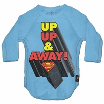 Trunk Superman Up, Up and Away! 3/4 Sleeve Raglan