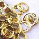1/4 Gold Eyelets & Washers  250/bag